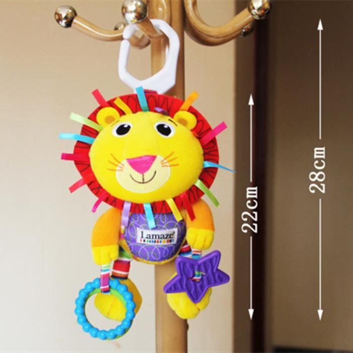 Hochets pour bébés de dentition doux Lion bébé éducatif jouet poussette multifonctions lit Mobiles jouets LAMAZE