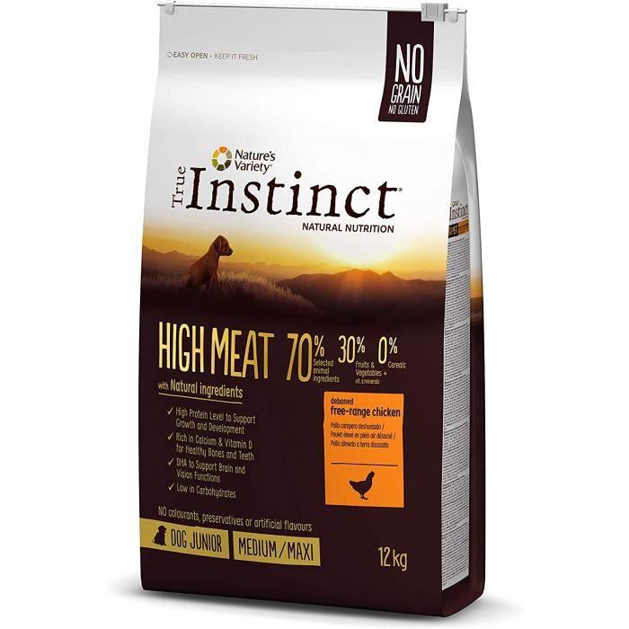 Nourriture pour chiens True Instinct High Meat Junior Medium-Maxi Nourriture pour Chiot Poulet Désossé 12 kg 38028