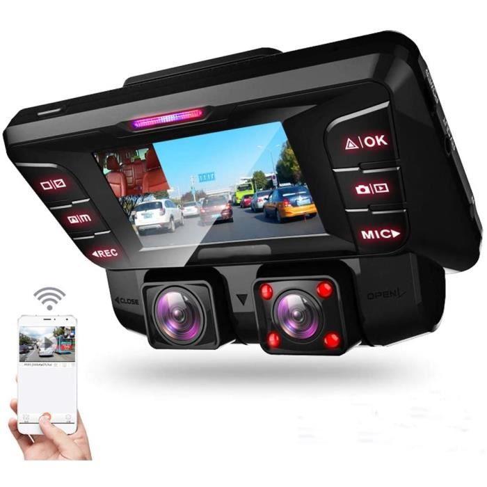 Dashcam Voiture WiFi + Caméra Recul 2.7 Pouces Vision Nocturne Haute Définition 2880 * 2160p Parking 24 Heures Surveillance du S190