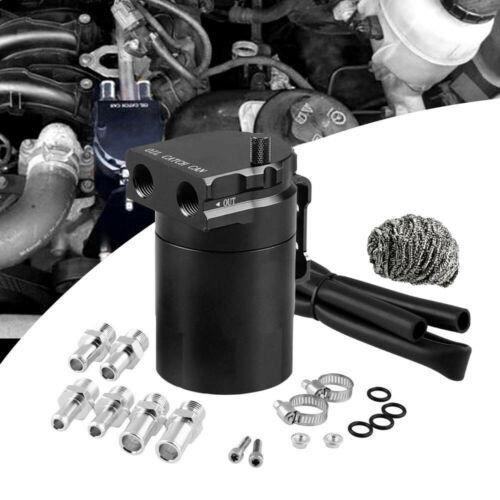 JIZHI Réservoir d'Huile en Aluminium Récupérateur Universel Reniflard pour Voiture -Noir