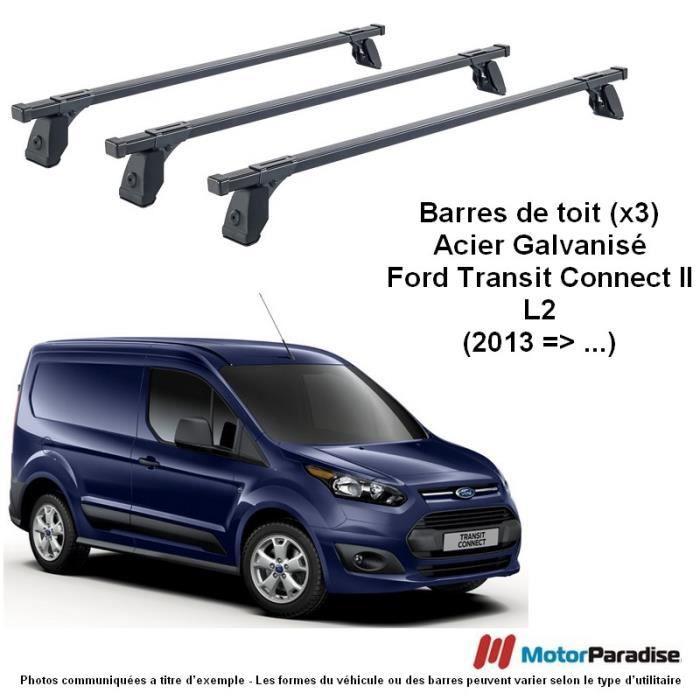 Barres de Toit (x3) Ford Transit Tourneo-Connect II (L2) - (2014 => ...)