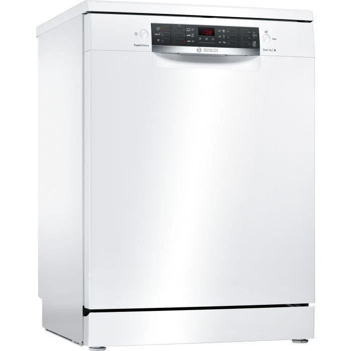 Lave-vaisselle pose libre BOSCH SMS46JW03E Série 4 - 13 couverts - Largeur 60 cm - 44 dB - Blanc