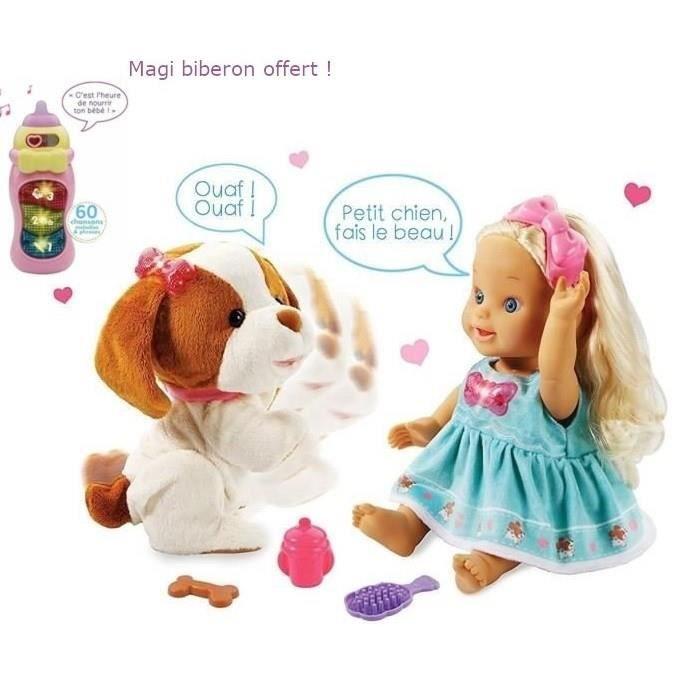 VTECH - Little Love - Lou joue avec son toutou & Magi biberon interactif