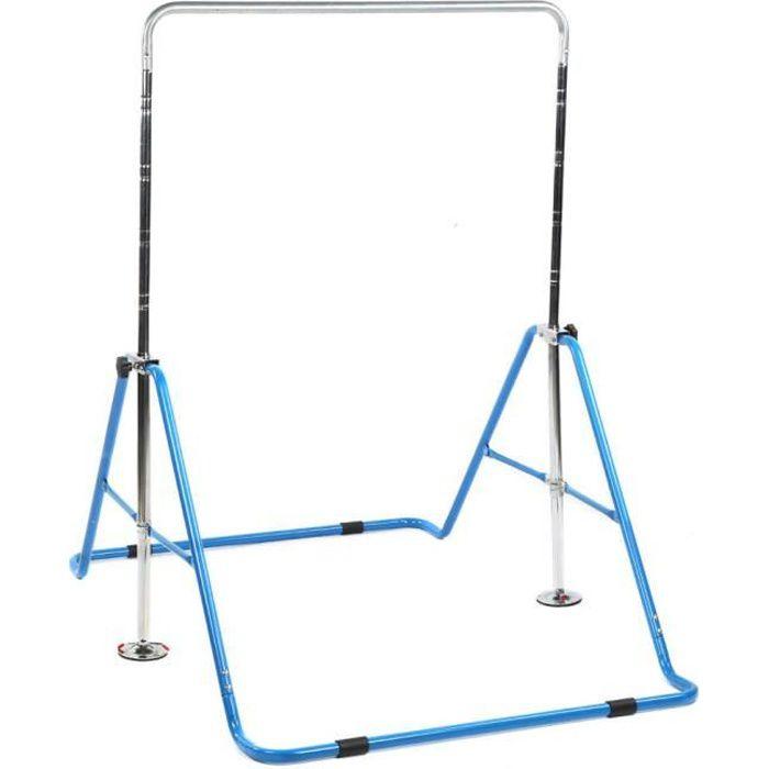 ESTINK Bar de gymnastique Barres horizontales pour enfants Barre d'entraînement de gymnastique à hauteur réglable Gym à domicile