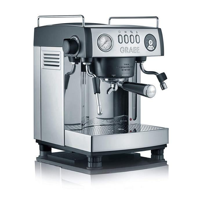 Graef ` Porte-filtre-Machine Espresso``baronessa, 2515 W, 16 bar, noir mat/acier inoxydable - ES902EU