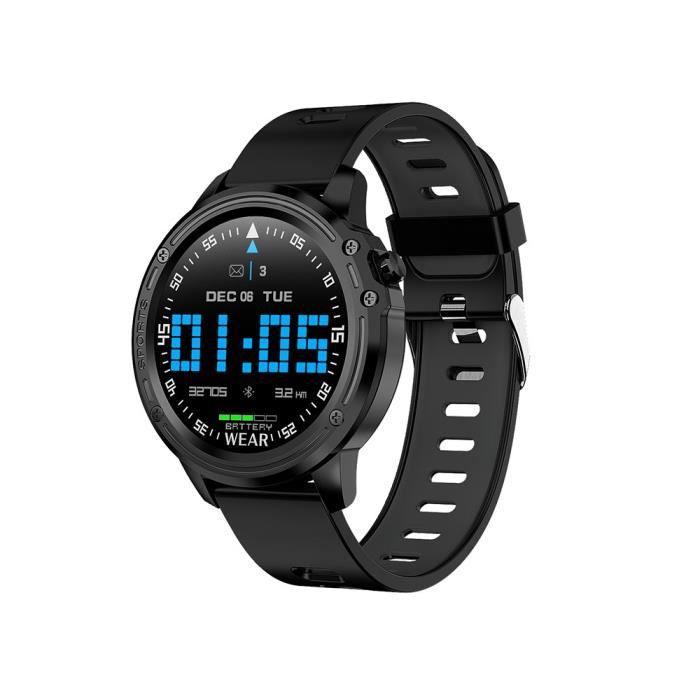 Montre connectée Fitness Tracker ECG + PPG Pression Artérielle Fréquence Cardiaque Montre Fitness Band Sprots Bracelet - Noir