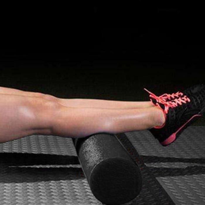 Rouleau de yoga en mousse EPP 60x15cm noir Massage ultra-ferme à densité élevée PR muscle yoga