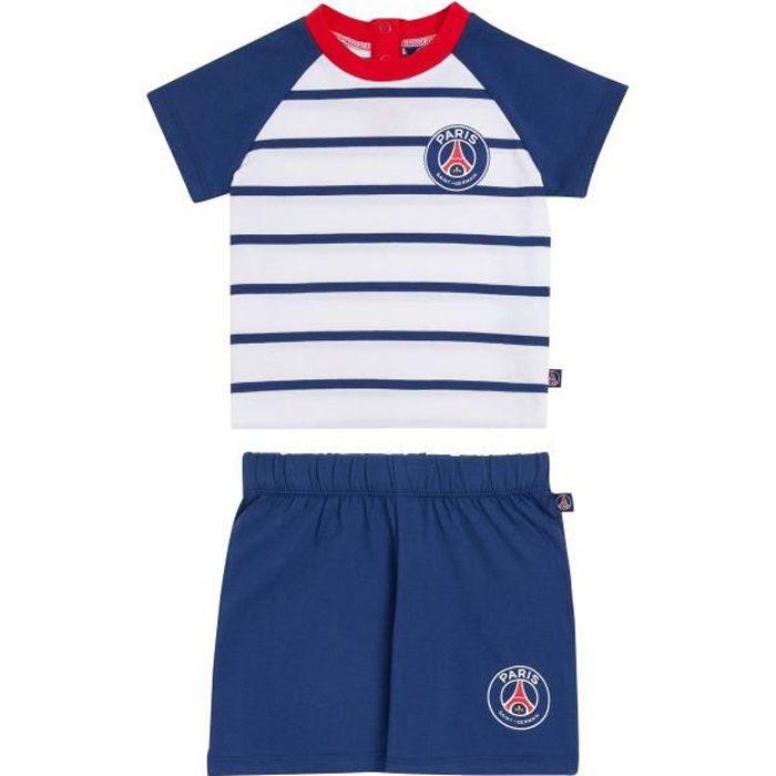 Ensemble bébé PSG T-shirt + short - Collection officielle PARIS SAINT GERMAIN