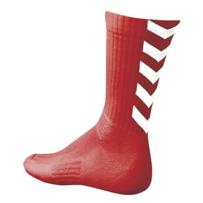 HUMMEL Chaussettes de Handball Authentic Indoor - Homme - Rouge et Blanc