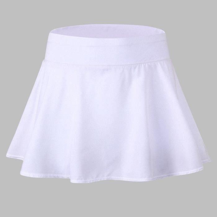 Jupe de Sport Femme Tennis Short Intérieur Sécher Rapide