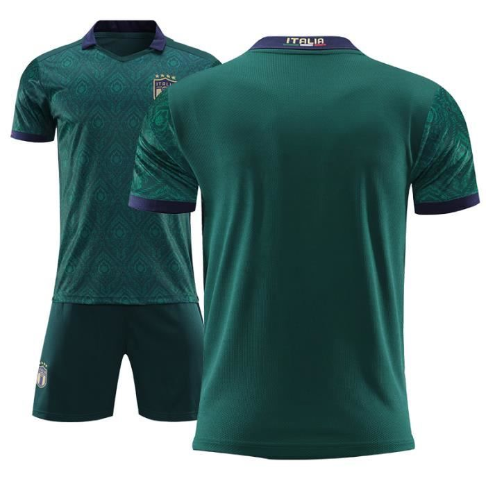 Italie 2020 Maillot de Foot Football Soccer(Tops + Shorts)Kit Suit Pas Cher Equipe Italienne Foot pour Homme