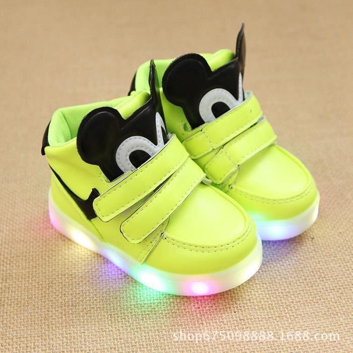 Chaussures de course pour garçons Filles LED Lumineux Chaussures de Sport en Plein air Enfant de Basket-Ball de Mode
