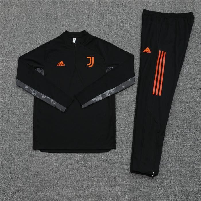 Survêtement Foot Homme Juventus,Maillot Foot Enfants Garçon Homme 2021 Survêtement Foot Maillot de Foot,Haut et Pantalon