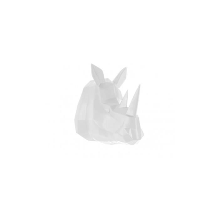 Tête de rhinocéros blanche ORIGAMI