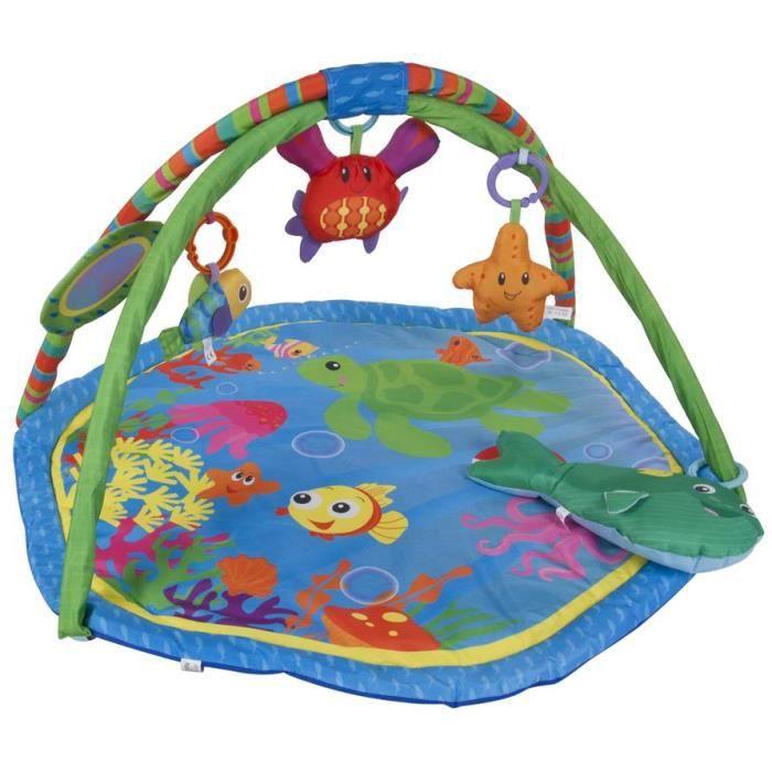 Tapis d'éveil avec jouets miroir et coussin bébé 0+ Récif corallien - Multicolore.
