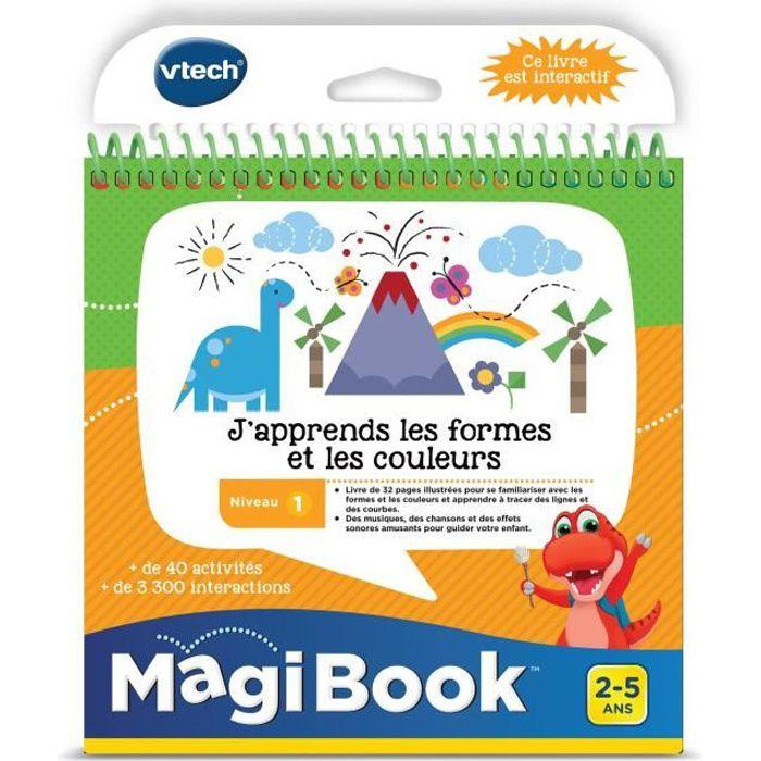 VTECH - Livre Interactif Magibook - J'Apprends Les Formes Et Les Couleurs