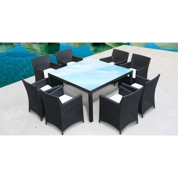bora ensemble de jardin table 8 fauteuils achat. Black Bedroom Furniture Sets. Home Design Ideas