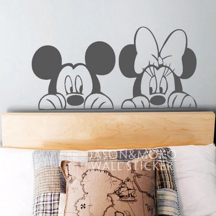 bande dessin e mickey minnie animaux mur sticker mural. Black Bedroom Furniture Sets. Home Design Ideas