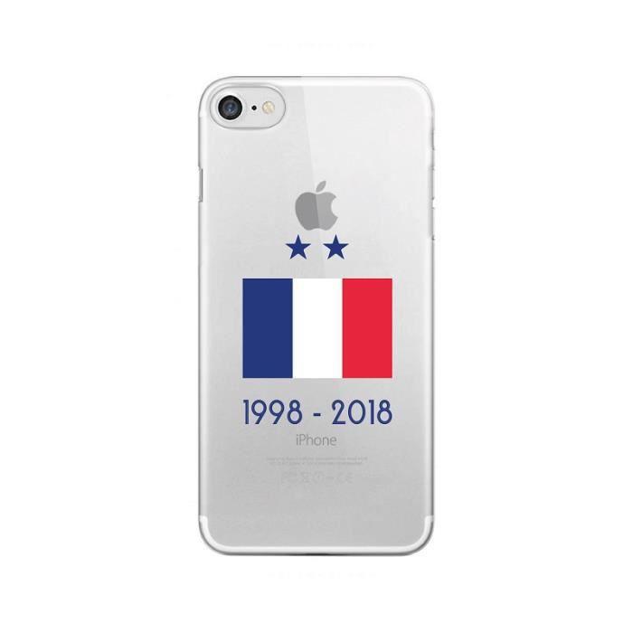 iPhone 5 - 5s - SE - Coque Foot Drapeau de France
