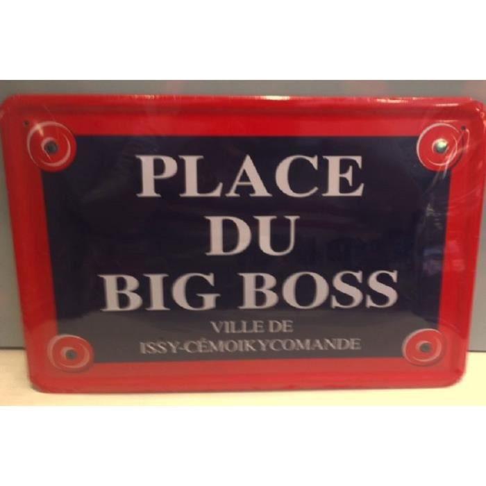 Plaque De Rue Humour Metal 30x20cm Big Boss - Cdiscount Maison