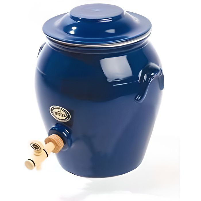 Vinaigrier Bleu En Grès 4 L Achat Vente Beurrier Huilier Soldes Cdiscount