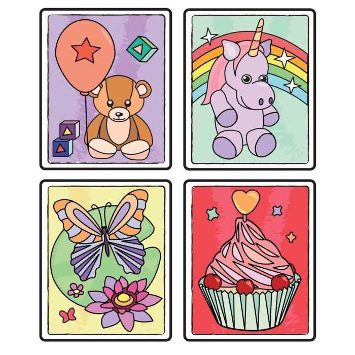 Coloriage Magique 11 X 9 Cm Baby X 4 Pcs Megacrea