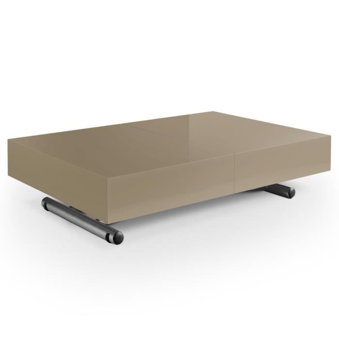 table basse relevable cassidy taupe achat vente table. Black Bedroom Furniture Sets. Home Design Ideas