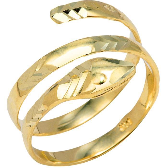 Bague Femme 10 ct Or Jaune 471/1000Serpent