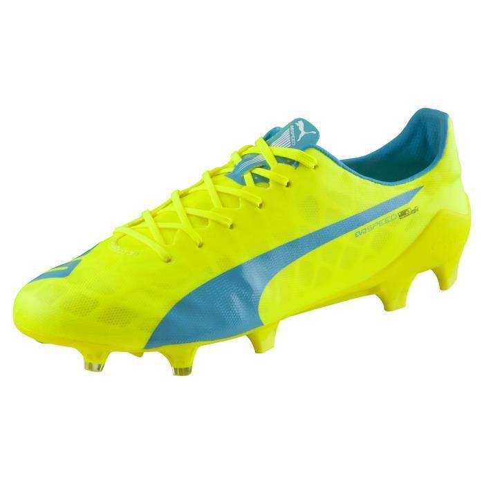 Chaussures football Puma evoSPEED sl FG jaune - Cdiscount Sport