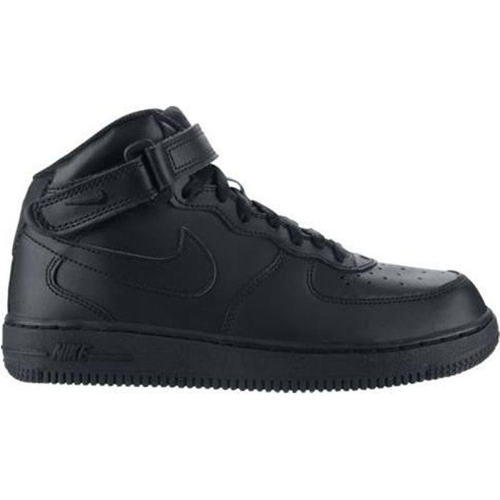 Basket Nike Air Force 1 Mid Noir Noir - Cdiscount Chaussures