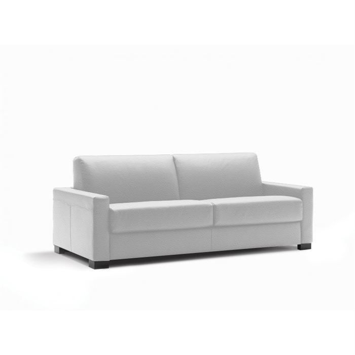 canap convertible rapido milano luxor cuir blanc achat. Black Bedroom Furniture Sets. Home Design Ideas