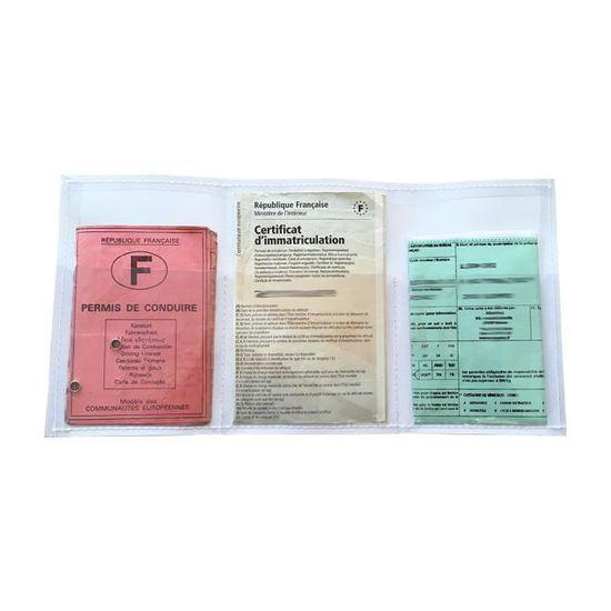 Rouge sans 550063 Porte Papier Sp/écial Nouveau Permis de Conduire Simili Cuir
