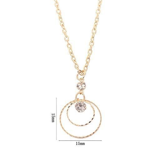 Womens Plated Cz Crystal Round Dangle Pendant Necklace Earrings Jewelry Set ForCNH04