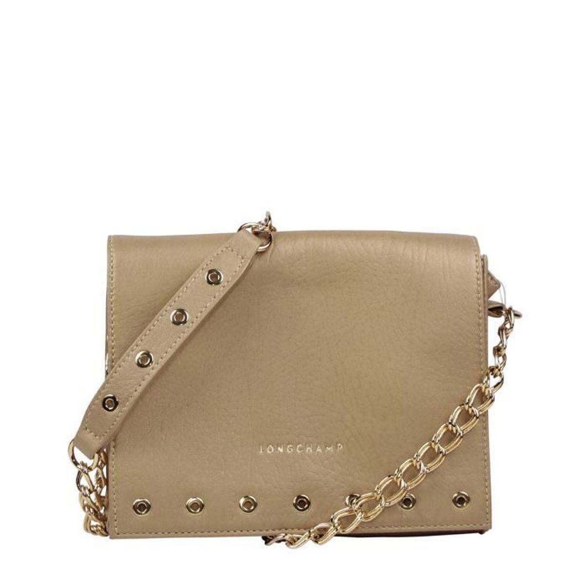 LONGCHAMP - sac femme à bandoulière en cuir - OR PARIS ROCK ...
