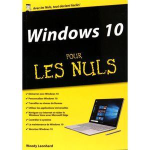 SYSTÈME D'EXPLOITATION Windows 10 pour les nuls