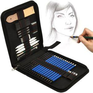 KIT PEINTURE Artina Set de dessin Bari de 33 pieces : crayons à