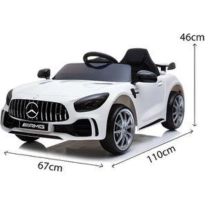 VOITURE ELECTRIQUE ENFANT Mercedes GTR 12v - Couleur:Blanc