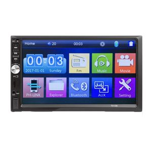 AUTORADIO Universal 7 pouces MP5 Radio Multimedia Car Din 2