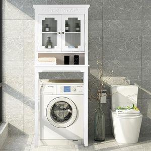 COLONNE - ARMOIRE SDB Meuble Dessus Toilette/Machine à Laver Armoire de