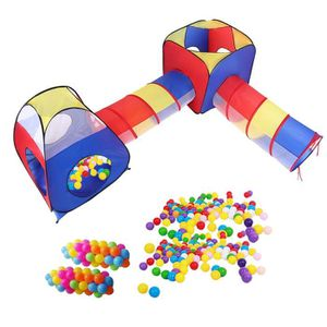 TENTE TUNNEL D'ACTIVITÉ 4 en 1 Tente enfant avec 100pcs Ocean Ball Tente t