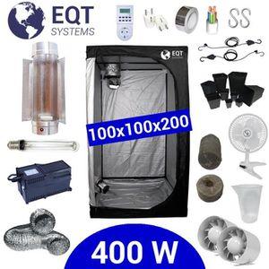 KIT DE CULTURE Pack Box 400W Cooltube 100x100 - Black Box 2 + Sup