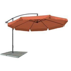 PARASOL Parasol excentre, diametre 3,5 m, terracotta, mate