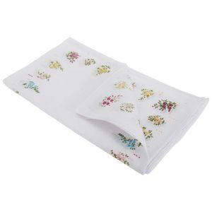 Femmes 3 /& 4 Pack Coton Motif Floral Hankerchief Hanky mouchoirs tissu