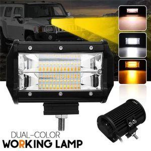 Les lumi/ères stroboscopiques de couleur de double barre de lumi/ère de 4 pouces 36W LED SpotLed Pods jaune tout-terrain /éclairant les feux de brouillard de conduite pour le camion de camion de SUV-2PCS