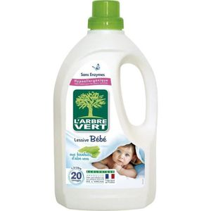 LESSIVE L'Arbre Vert Lessive Liquide Bébé à l'Aloe Vera -