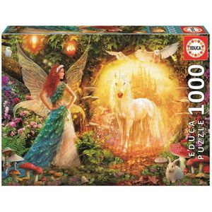 PUZZLE EDUCA Puzzle 1000 Pièces - Peacock Feather Fairy