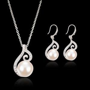 CHAINE DE COU SEULE Bijoux de mariée diamant collier de perles Costume