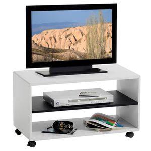 MEUBLE TV Meuble TV étagère sur roulettes ATLANTA, en MDF co