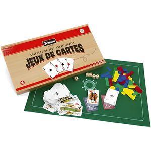 MALLETTE MULTI-JEUX JEUJURA Coffret De Jeux De Cartes - Coffret En Boi