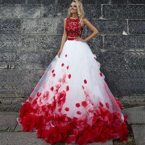 Robe de mariee blanc et rouge - Achat / Vente